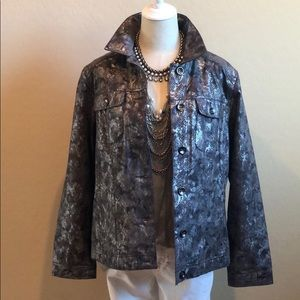 Chico's Snake Print Jacket